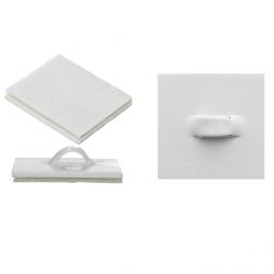 2 Attaches Plates Adhésives en Plastique -Décorations murales et autres