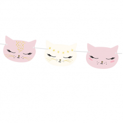 Banderole Happy Birthday - Petits Chats Anniversaire