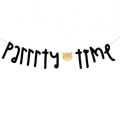 Banderole à fanions Party Time - Petits Chats Anniversaire