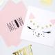Grandes serviettes Meow / Chat blanc et rose poudré - Chats Anniversaire