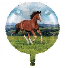 Ballon alu thème Cheval et équitation - Anniversaire pour enfants