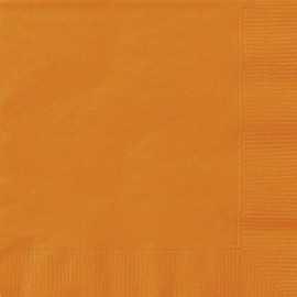 Serviettes Cocktail en Papier Orange