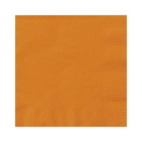 serviettes cocktail en papier orange pour l 39 organisation de votre f te. Black Bedroom Furniture Sets. Home Design Ideas