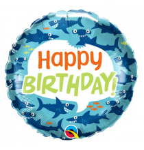 Ballon Hélium Alu Thème Requin Bleu Baby Shark