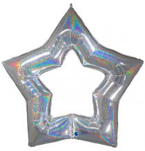 Maxi Etoile Argent Holographique - Décoration de fête