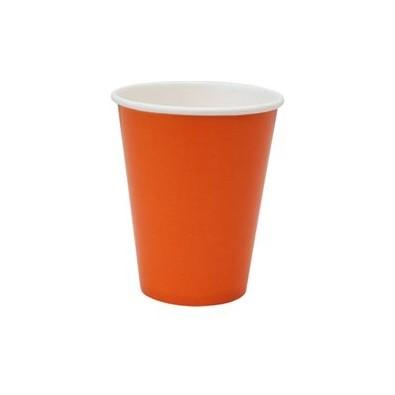 Verres Jetables en Papier Orange de Fête