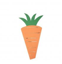 16 serviettes en forme de carotte