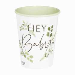 Gobelets Hey Baby - Thème Champêtre Baby Shower Eucalyptus