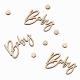 Confettis Bois Baby - Thème Champêtre Baby Shower Eucalyptus