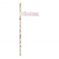 20 Pailles Rétro Liberty Rose Gold Drink Me - Collection décoration florale