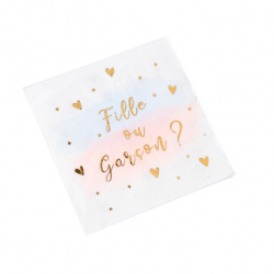 Serviettes en Papier Fille ou garçon? Baby Shower Gender Reveal