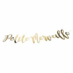 """Banderole """"Petite Merveille"""" dorée - Décoration Bébé Shower Naissance"""