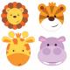 Petites Assiettes Lion Safari Anniversaire