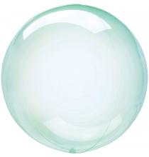 Ballon Crystal Bulle Rond Vert Transparent - Décoration de ballons
