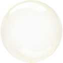 Ballon Crystal Bulle Rond Jaune Transparent - Décoration de ballons
