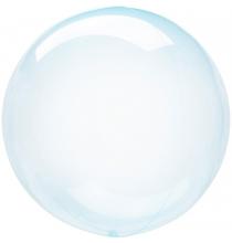 Ballon Crystal Bulle Rond Bleu Transparent - Décoration de ballons