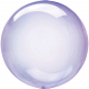 Ballon Crystal Bulle Rond Violet Transparent - Décoration de ballons
