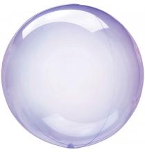 Ballon Crystal Bulle Rond Violet Transparent - Décoration de ballons
