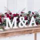Lettre A en Bois Blanc - Alphabet Décoration de Table