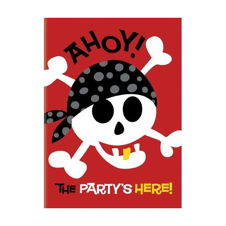 8 Invitations Anniversaire Petit Pirate