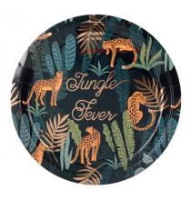 Assiettes Jungle Fever - Fête Thème Safari Guépard Léopard Cheetah