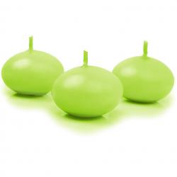 50 bougies flottantes vert pomme - Décoration de table