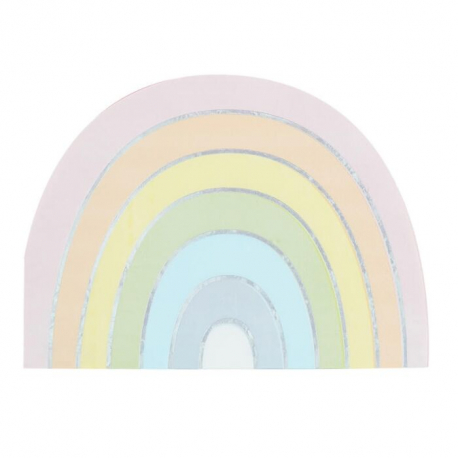 Serviettes en Papier Arc-en-Ciel Pastel Anniversaire