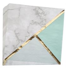 Serviettes en papier - Effet Marbre Mint et doré
