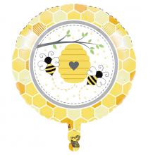 Ballon Rond Thème Abeilles - A Little Honey Bee