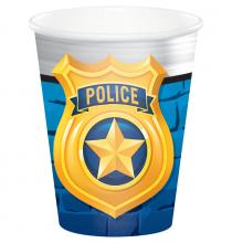 Gobelets en papier - Anniversaire Thème Police