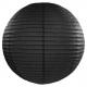 Boule de Papier Noir Lanterne 20 cm