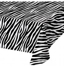 Nappe Zèbre en Plastique Premium Safari Anniversaire Table de Fête
