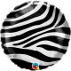 Ballon Rond Imprimé Zèbre Animal - Jungle Party