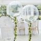 Ballon XL Cristal avec guirlande d'eucalyptus - Thème Champêtre