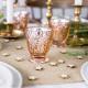 4 Bougeoirs en verre effet miroir rose gold cuivré - Décoration de table