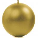 Grande bougie ronde doré brillant - Décoration de table