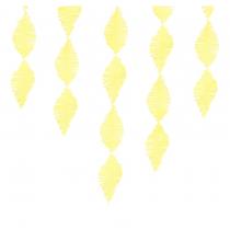 Guirlande Serpentin à Franges Jaune Papier Crépon Décoration de Fête