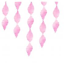 Guirlande Serpentin à Franges Rose Papier Crépon Décoration de Fête