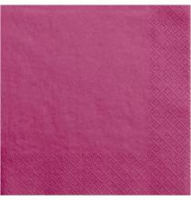 Grandes Serviettes en Papier Rose Framboise - Premium