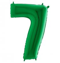 Ballon 35cm Alu Vert 7 Ans Sept Fête d'Anniversaire enfant