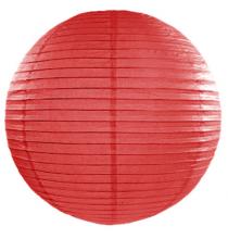 Boule de Papier Rouge Lanterne 20 cm