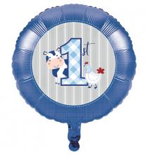Ballon Alu Mon Premier Anniversaire Bébé Garçon - Ferme