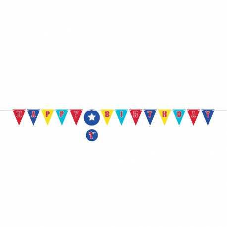 Banderole à Fanions Happy Birthday - Décorations Anniversaire Cirque