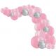 Arche de Ballons Organiques Rose et Argent