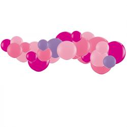 Kit Guirlande de Ballons Organiques - Modèle Rose Framboise Parme