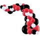 Kit Arche de Ballons Organiques - Modèle Rouge Noir et Blanc
