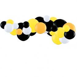 Kit Guirlande de Ballons Organiques - Modèle Jaune Noir et Blanc