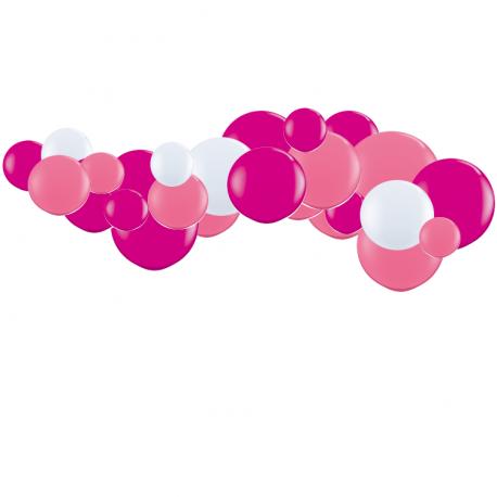 Kit Guirlande de Ballons Organiques - Modèle Rose framboise
