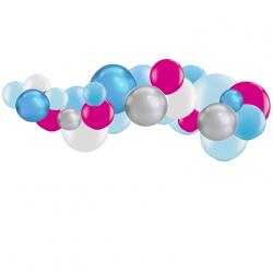 Kit Guirlande de Ballons Organiques - Modèle Reine des Neiges