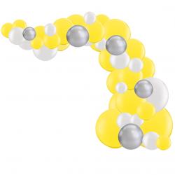 Kit Arche de Ballons Organiques - Modèle Jaune et Argent